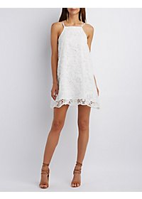 Sans Souci Floral Crochet Shift Dress