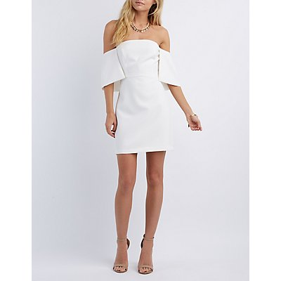 Re:Named Off-the-Shoulder Bodycon Dress