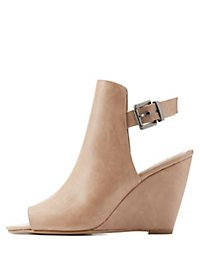 Peep Toe Wedge Sandals