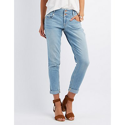 "Refuge ""Skinny Boyfriend"" Light Wash Jeans"