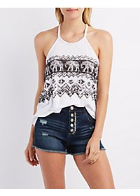 Graphic T-Back Tank Top