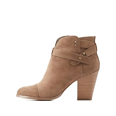 Wrapped Chunky Heel Booties