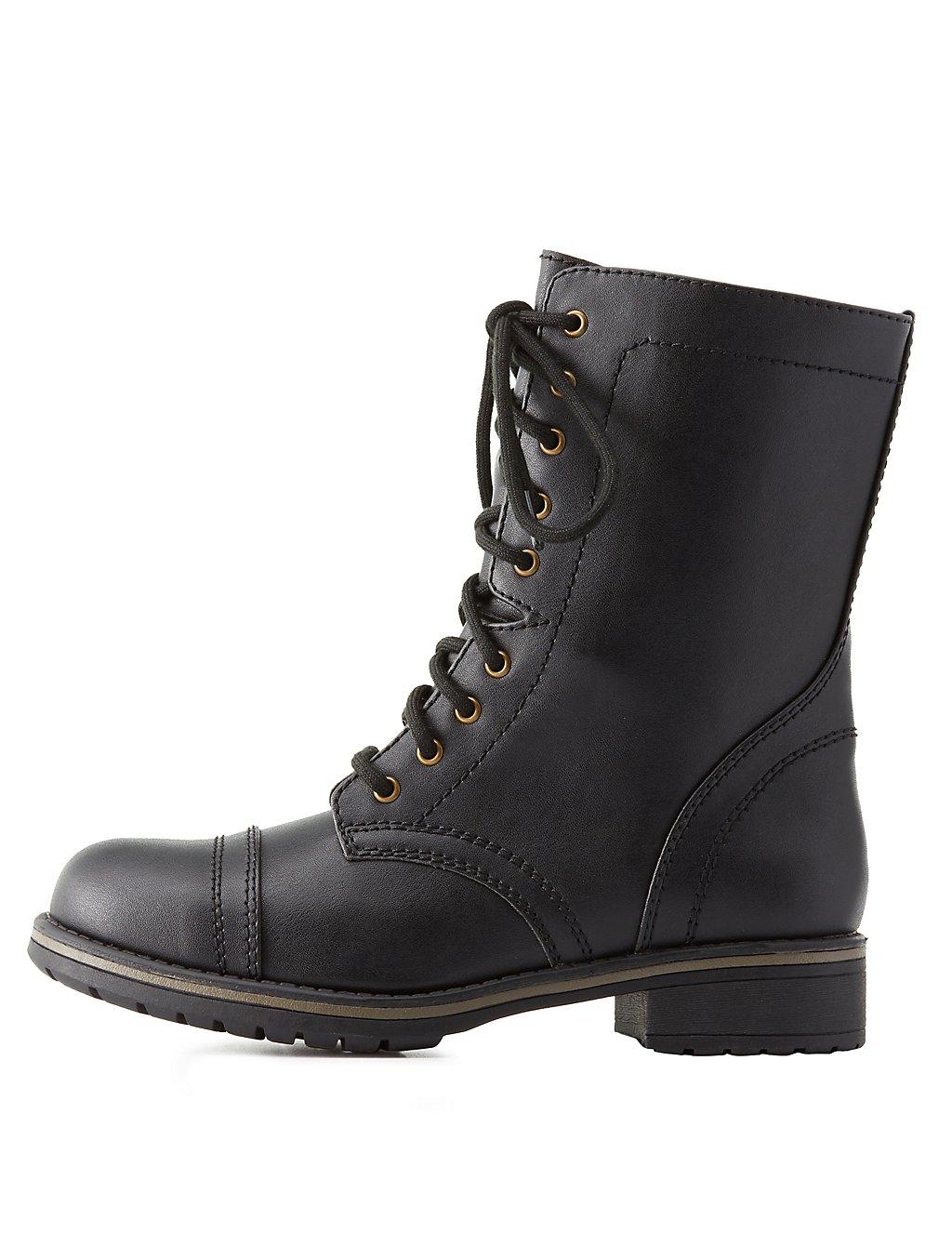 Lace-Up Combat Boots | Charlotte Russe