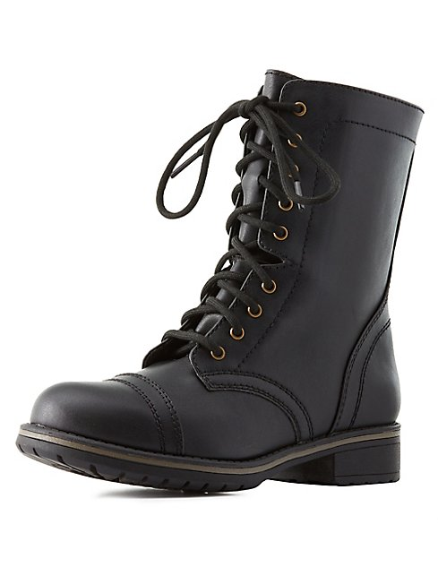 Lace-Up Combat Boots | Charlotte Russe