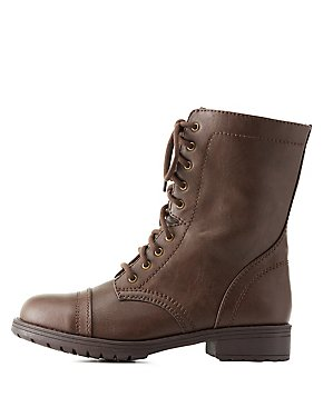 Combat Boots & Booties: Lace-Up & Fold-Over | Charlotte Russe