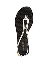 Bamboo Metallic Jelly Sandals