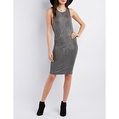 Round Neck Bodycon Dress