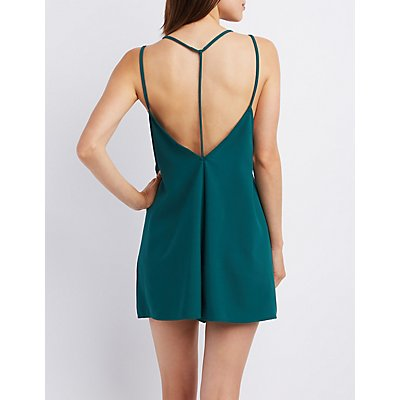 Strappy V-Neck Romper