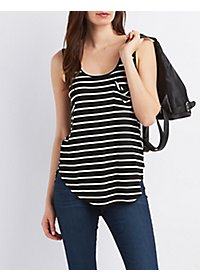 Striped Pocket Tank Top