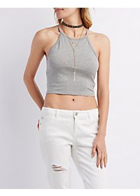 Bib Neck Crop Top
