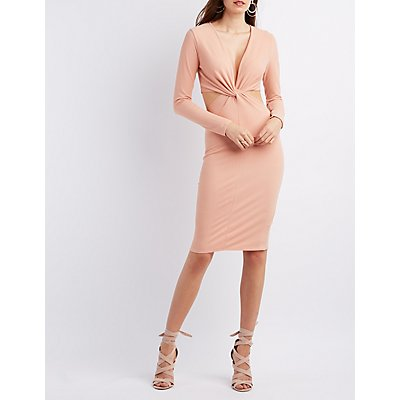 Twisted Cut-Out Bodycon Dress