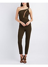 Asymmetrical Cut-Out One-Shoulder Jumpsuit