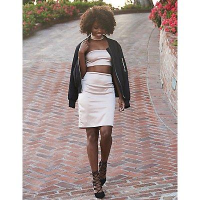 Mock Neck Cut-Out Midi Dress