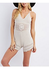 Sleeveless Crochet Romper