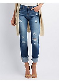 Sneak Peek Destroyed Boyfriend Jeans