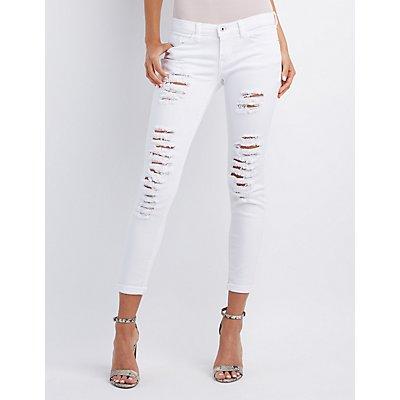 Sneak Peek Destroyed Skinny Boyfriend Jeans
