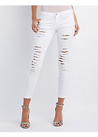 Sneak Peek Destroyed Skinny Boyfriend Jeans