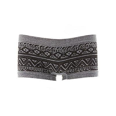 Printed Seamless Boyshort Panties