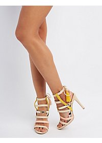 Qupid Strappy Tassel Sandals