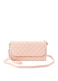 Quilted Detachable Strap Crossbody Bag