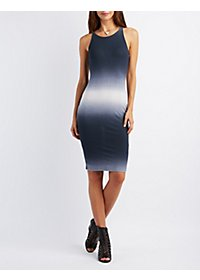 Ombre Keyhole Bodycon Dress