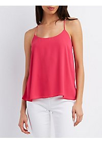 Strappy Tie-Back Tank Top
