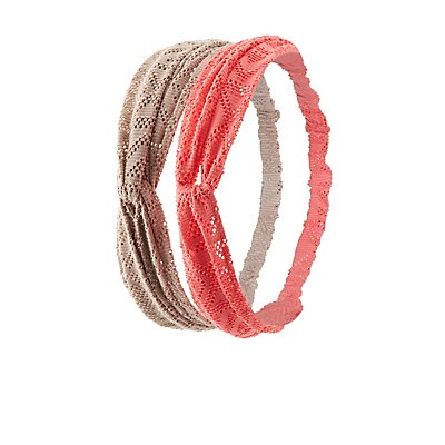 Geometric Crochet Head Wraps - 2 Pack