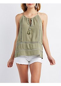 Crochet-Inset Tank Top