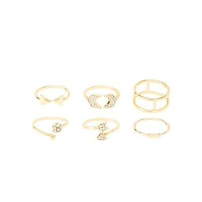 Stackable Arrow Rings - 5 Pack