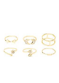 Stackable Arrow Rings - 5 Pack