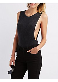 Mineral Wash Dropped Armhole Bodysuit