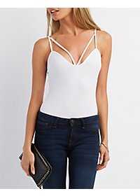 Textured Strappy Bodysuit