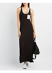 Ringer Pocket Maxi Dress