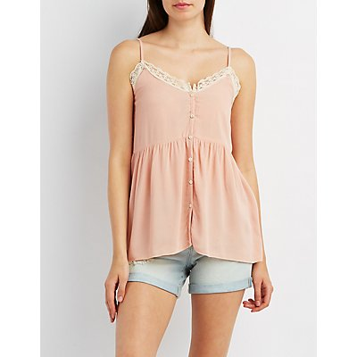 Strappy Button-Up Tank