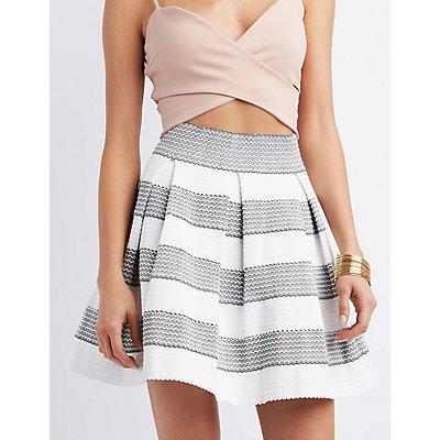 Pleated Bandage Skater Skirt