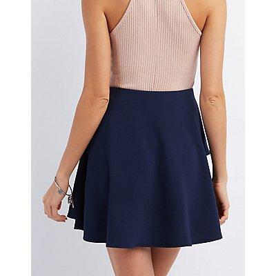 Asymmetrical Layered Skater Skirt