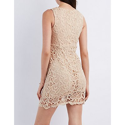 Lace Sleeveless Bodycon Dress
