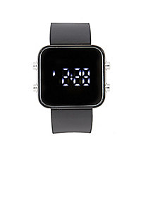 Rubber Square Digital Watch