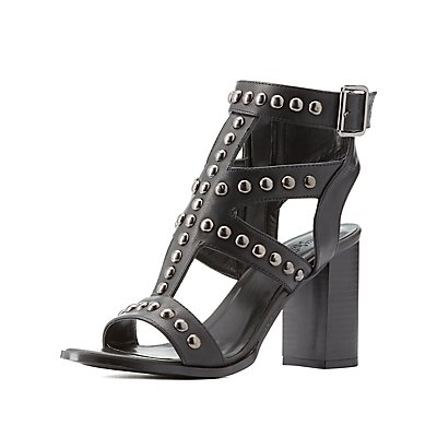 Studded Strappy Dress Sandals