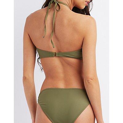 Caged Halter Bikini Top