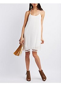 Tassel Hem Shift Dress