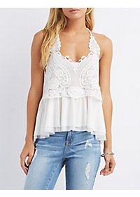 Strappy Crochet Tank Top