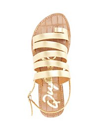 Qupid Strappy Flat Sandals