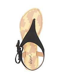 Qupid Tie Thong Sandals