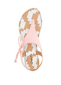 Qupid Side Tie Thong Sandals