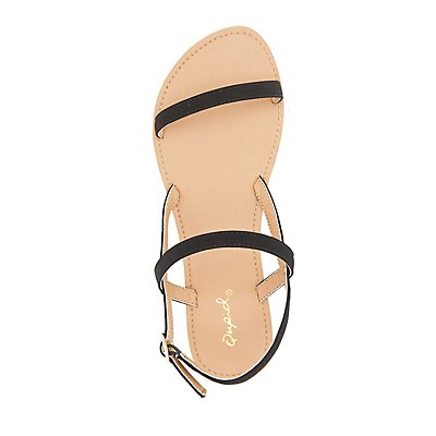 Qupid Three-Piece Sandals