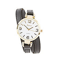 Multi-Strap Round Watch
