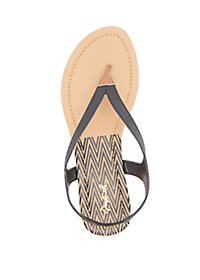 Qupid Textured Thong Sandals