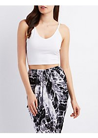 Caged-Back Strappy Crop Top