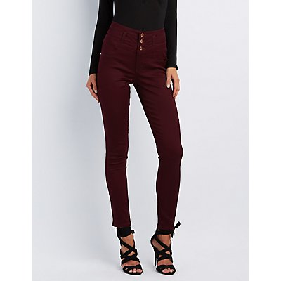 "Refuge ""Hi-Waist Skinny"" Colored Jeans"